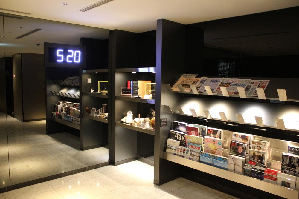 ANA Suite Lounge Tokyo Haneda – Reading material
