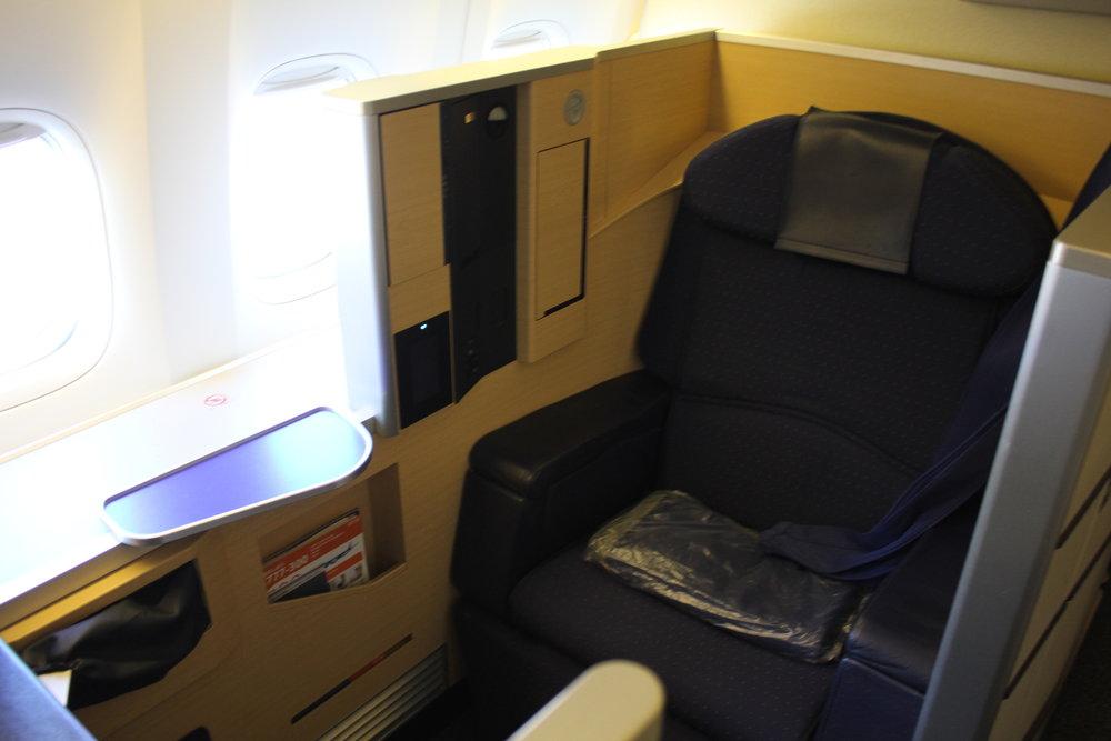 ANA 777 business class – First Class seat