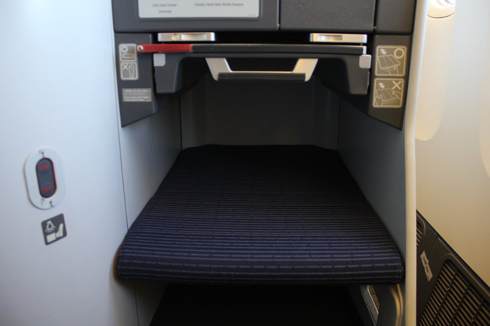 ANA 777 business class – Footrest