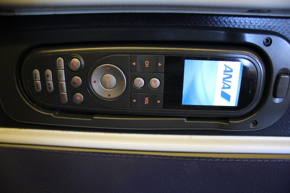 ANA 777 business class – Entertainment controller