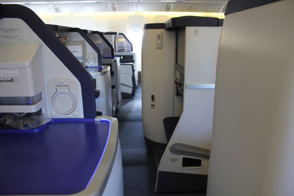 ANA 777 business class – View from the seat