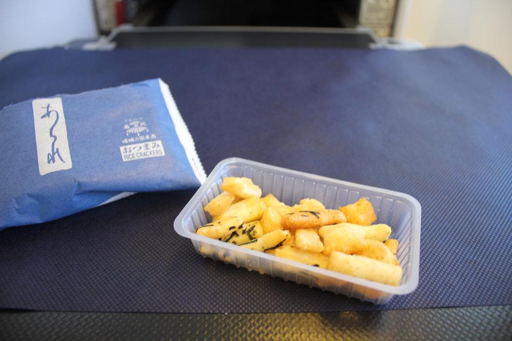 ANA 777 business class – Light snack