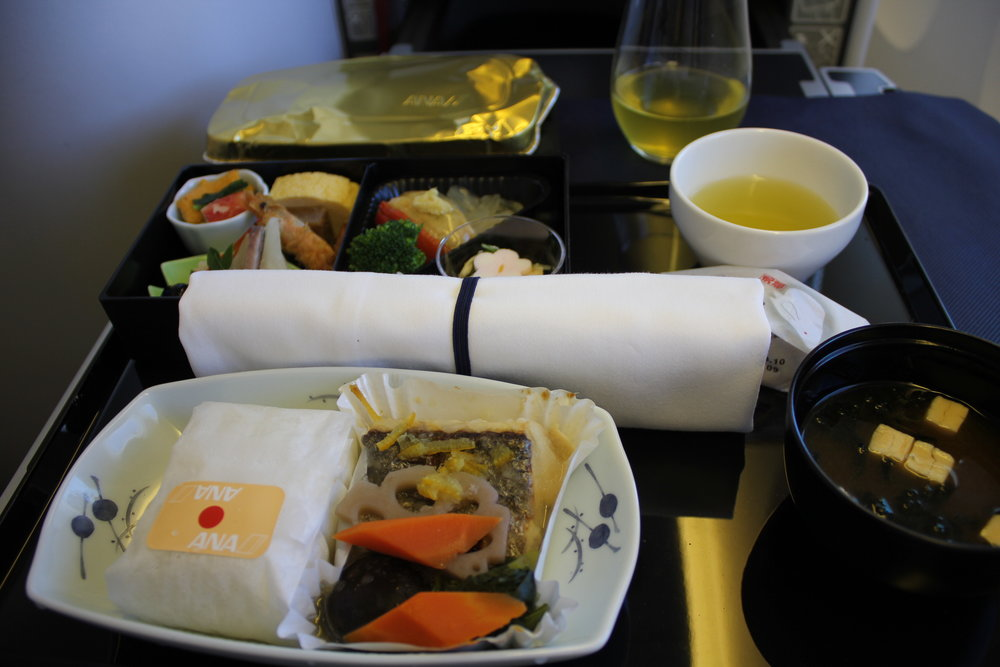 ANA 777 business class – Lunch