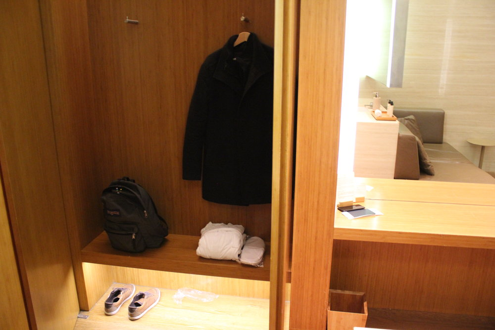 The Wing First Class Lounge by Cathay Pacific – Cabana closet