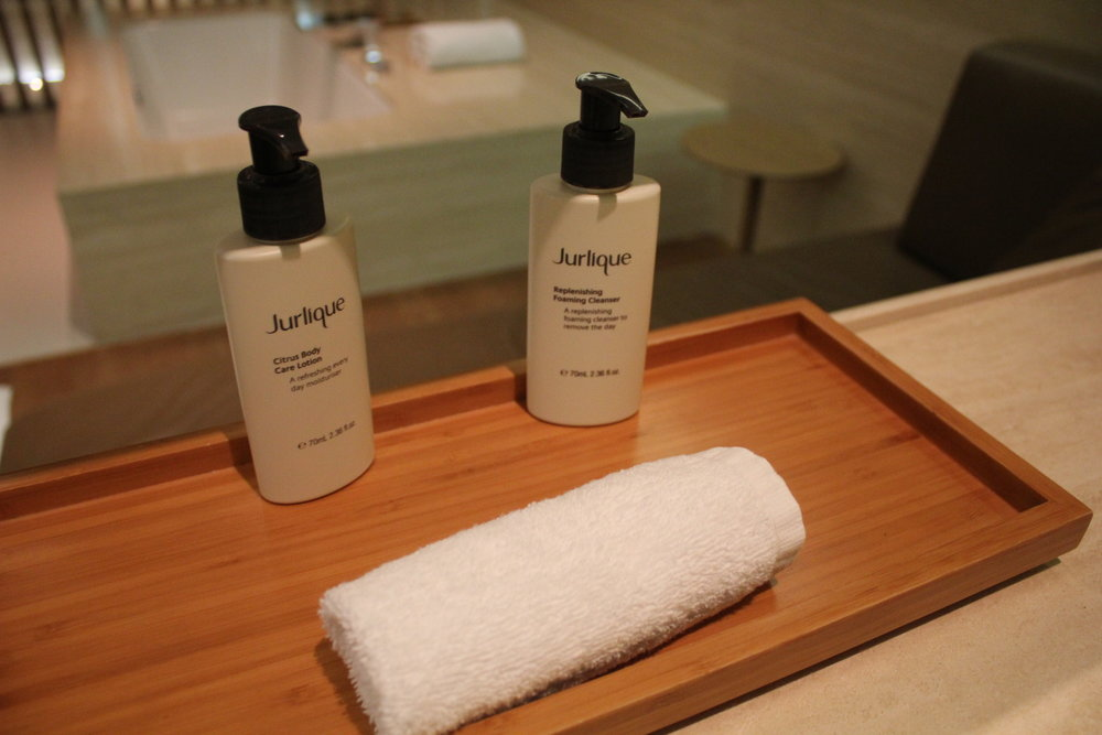 The Wing First Class Lounge by Cathay Pacific – Jurlique skincare products
