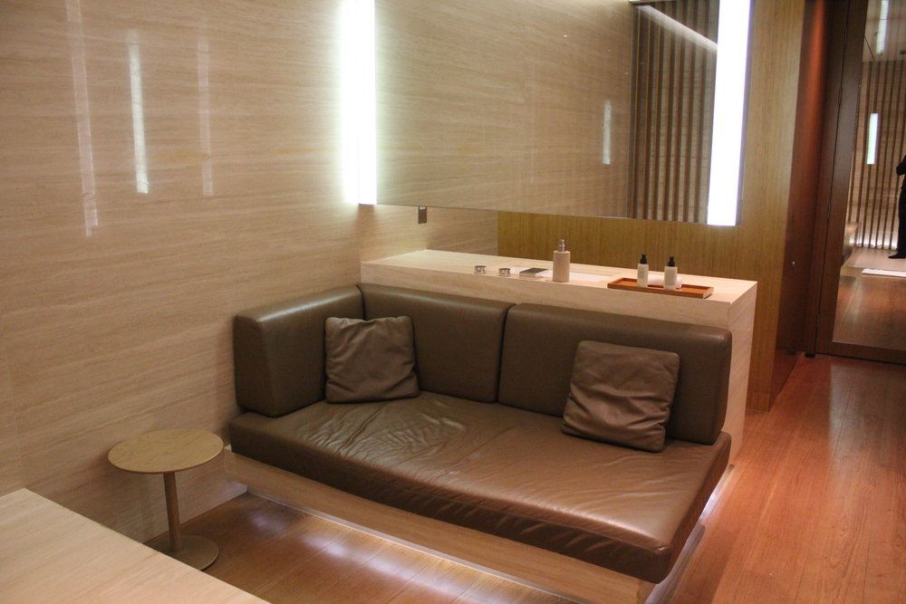 The Wing First Class Lounge by Cathay Pacific – Cabana daybed