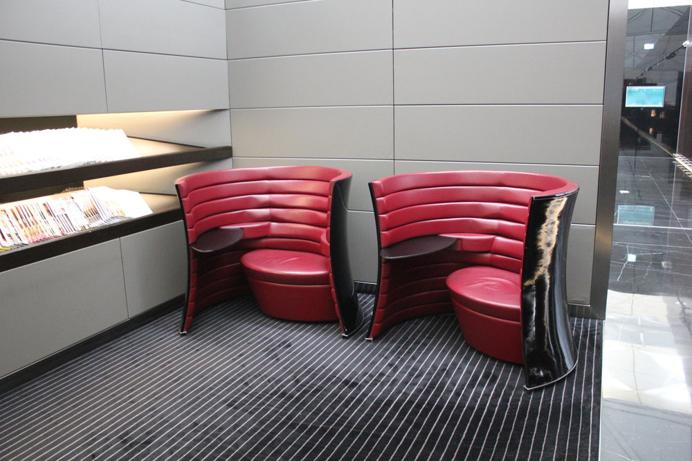 The Wing First Class Lounge by Cathay Pacific – Reading area