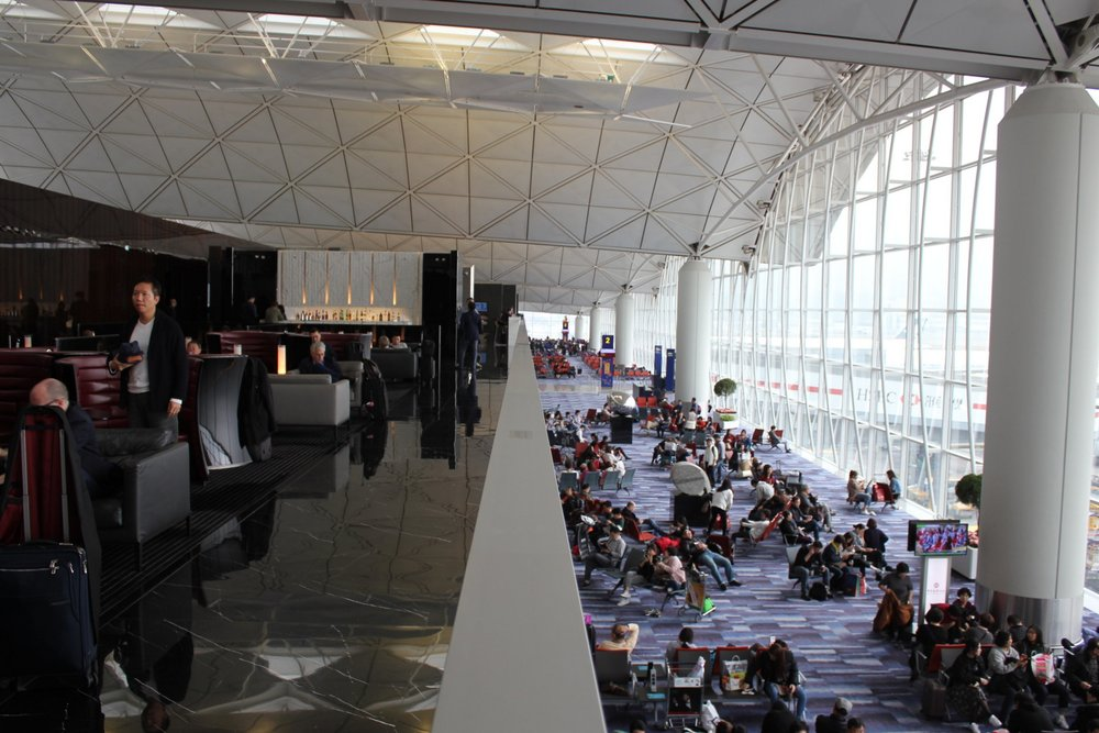 The Wing First Class Lounge by Cathay Pacific – Balcony