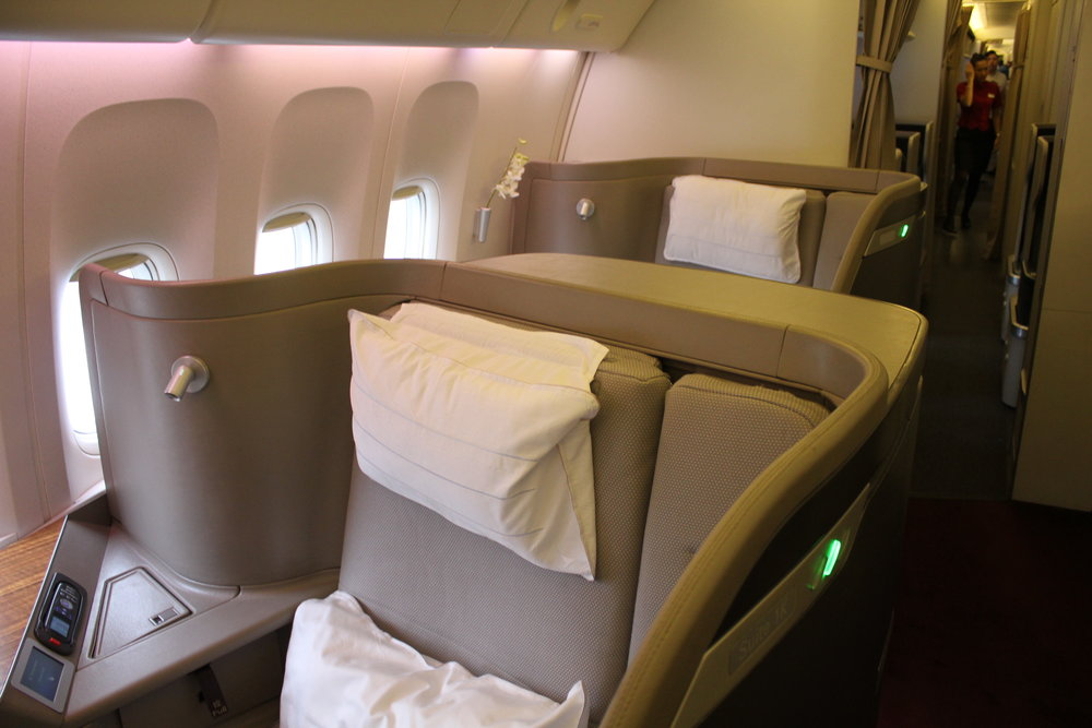 Cathay Pacific First Class – Seats 1K and 2K