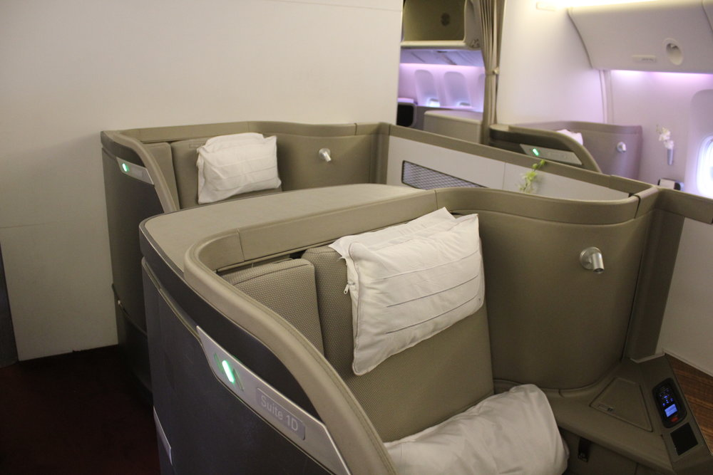 Cathay Pacific First Class – Seats 1D and 2D