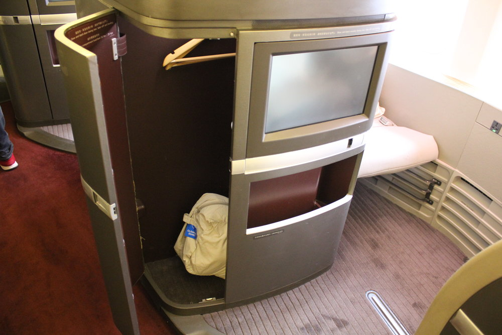 Cathay Pacific First Class – Storage cabinet