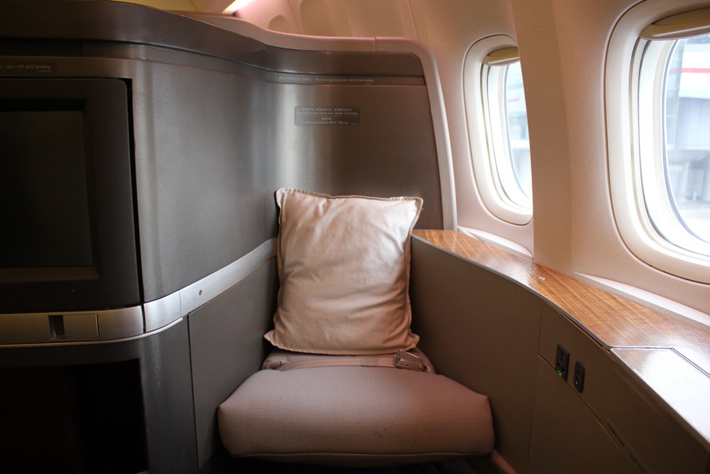 Cathay Pacific First Class – Ottoman