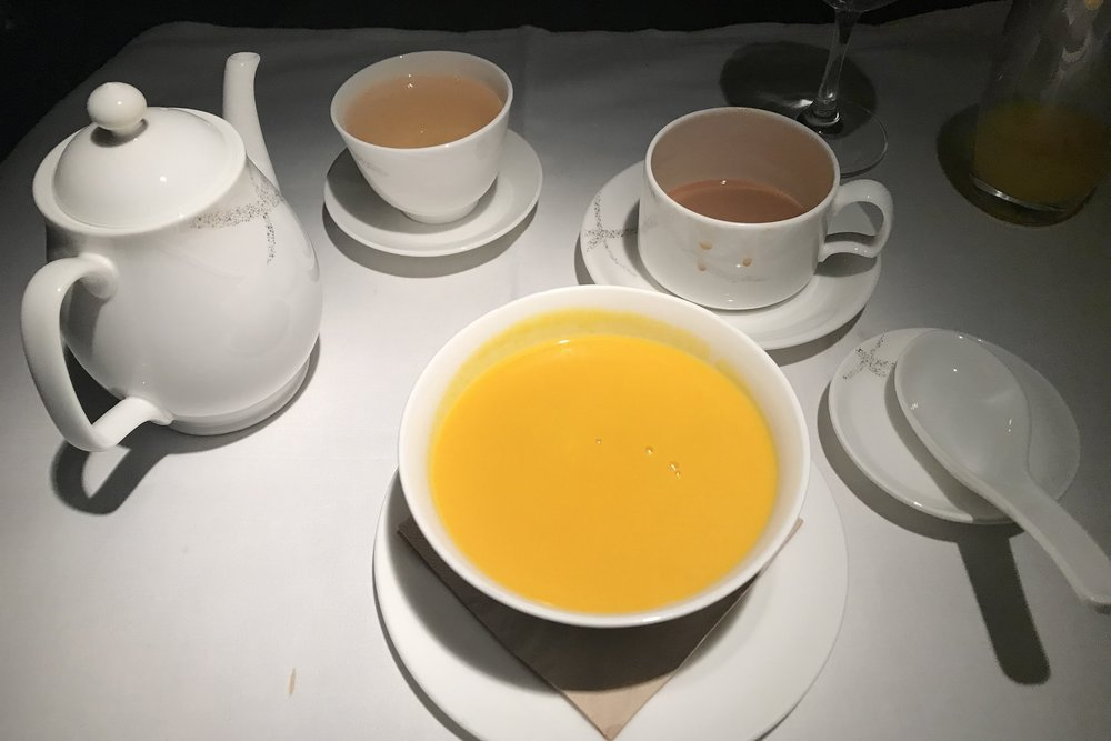 Cathay Pacific First Class – Pumpkin and coconut sweet soup