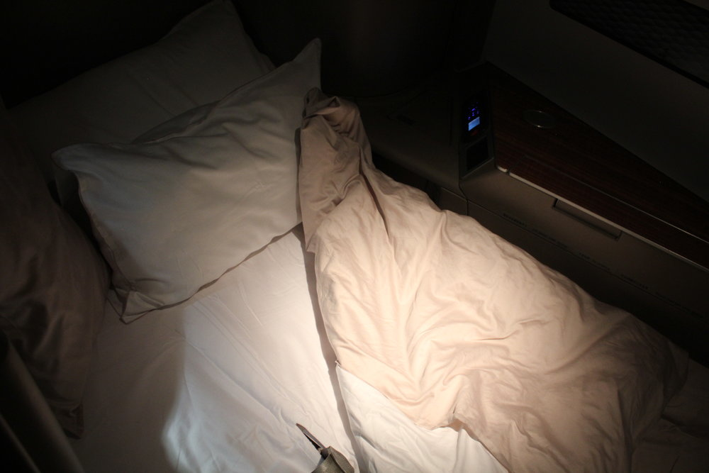 Cathay Pacific First Class – Bed