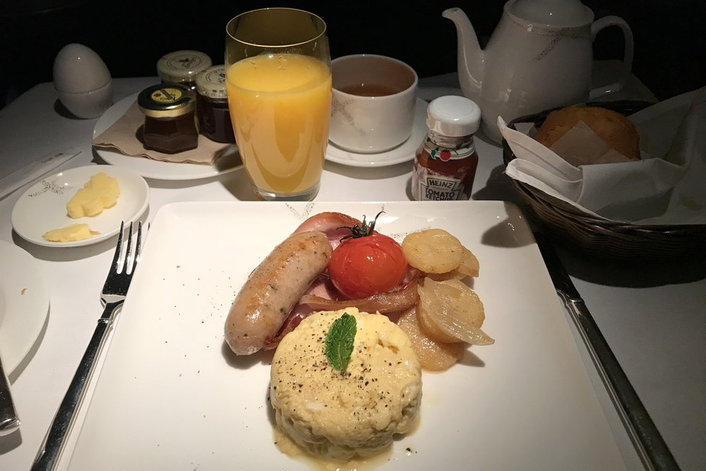 Cathay Pacific First Class – Western breakfast