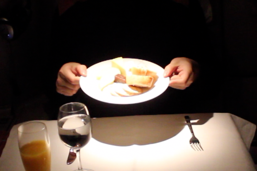 Cathay Pacific First Class – Cheese plate