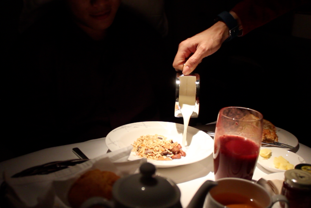 Cathay Pacific First Class – Muesli