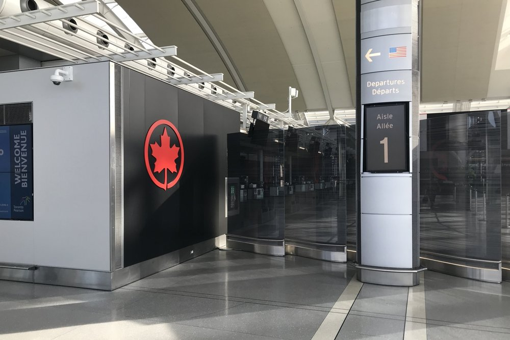 Air Canada business class – Check-in