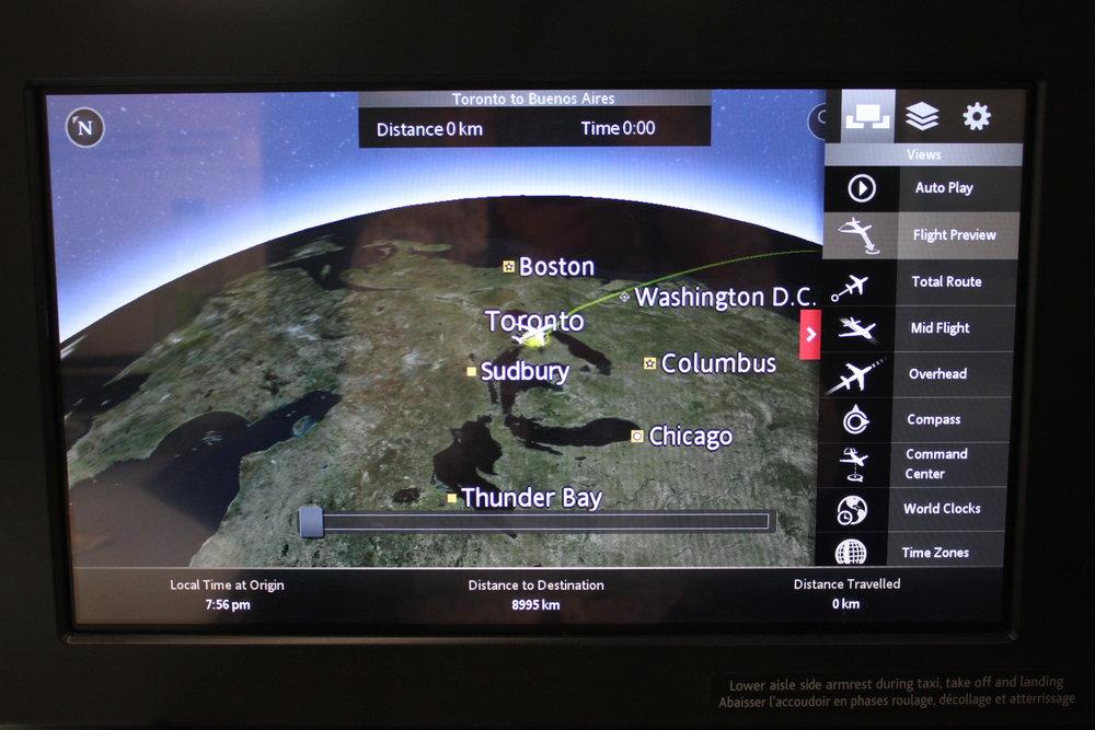 Air Canada business class – Airshow