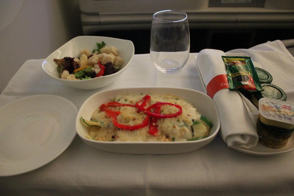 Ethiopian Airlines business class – Fish in cream sauce