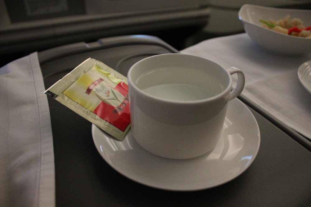 Ethiopian Airlines business class – Green tea