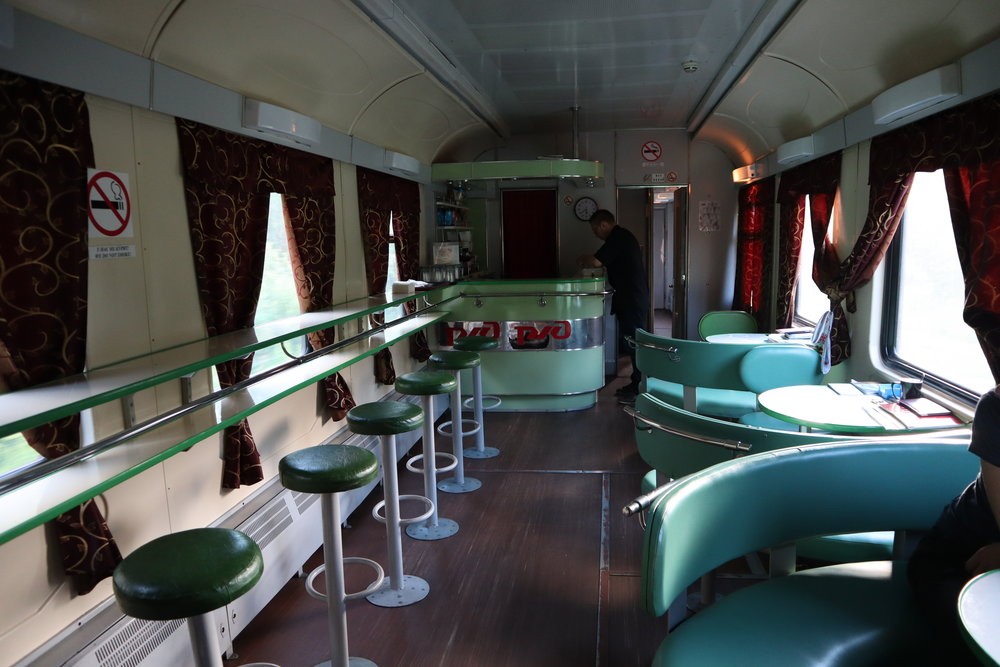 Trans-Siberian Railway restaurant car