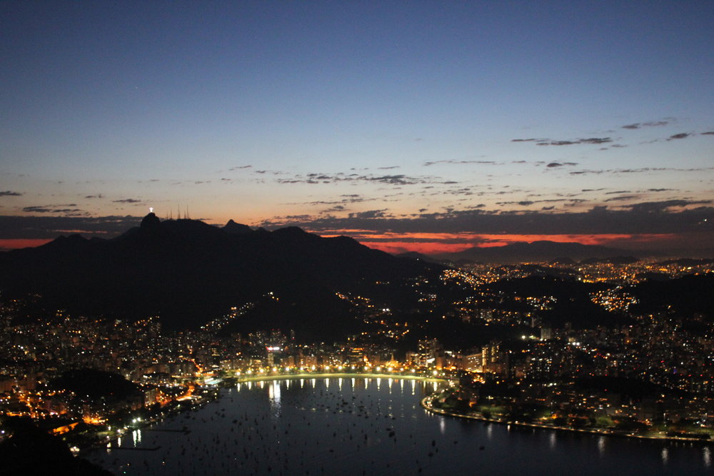 Rio de Janeiro, Brazil – Night view from Sugarloaf Mountain