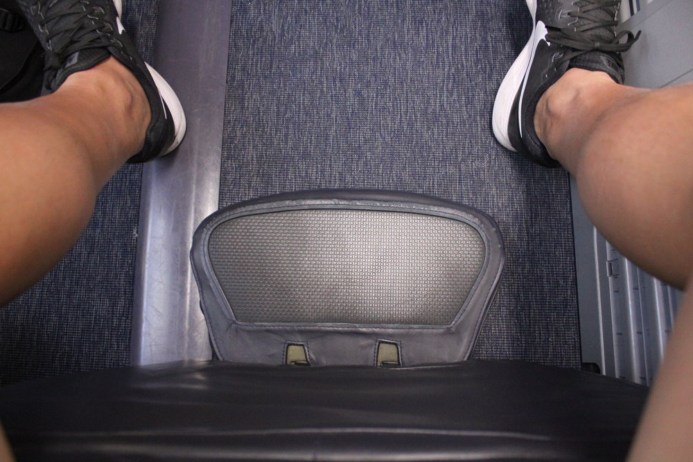 Copa Airlines business class – Legrest and footrest