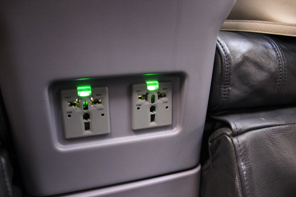 Copa Airlines business class – Power ports