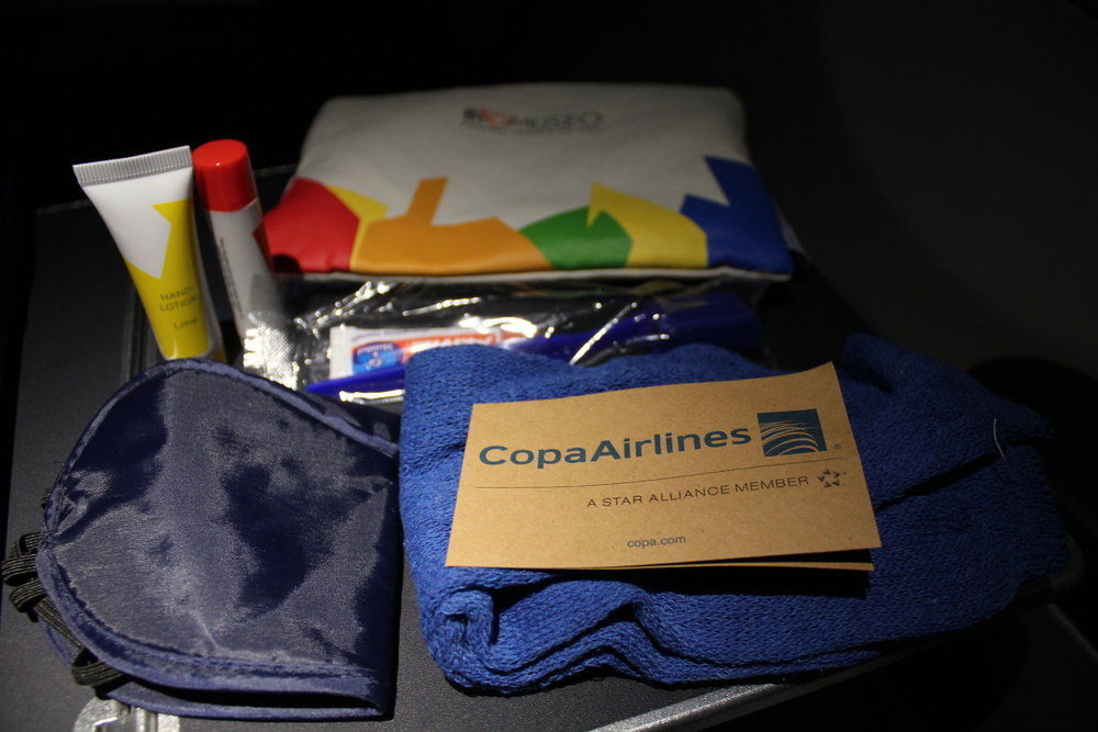 Copa Airlines business class – Amenity kit contents