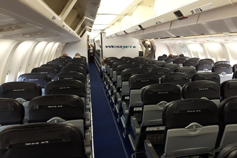 The WestJet 767, my most recent flight in economy class