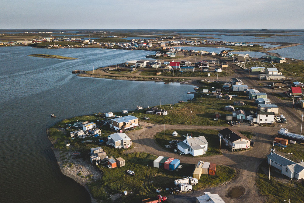 Go swimming in the Arctic Ocean in Tuktoyaktuk, NT!