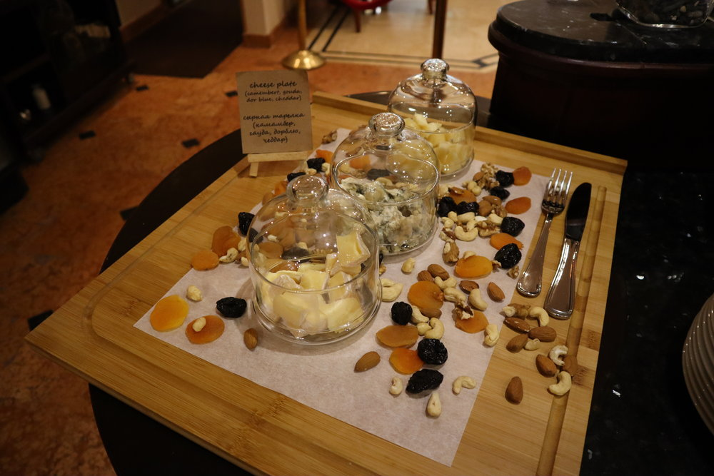 Renaissance St. Petersburg Baltic Hotel – Cheese plate