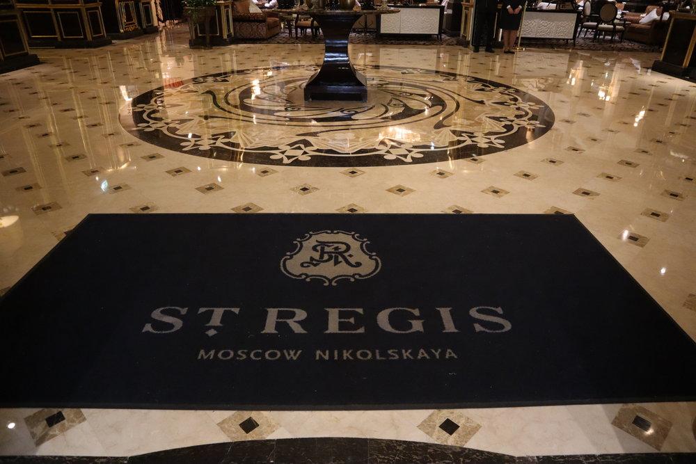 St. Regis Moscow Nikolskaya – Welcome mat