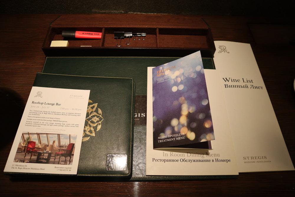 St. Regis Moscow Nikolskaya – St. Regis Suite desk