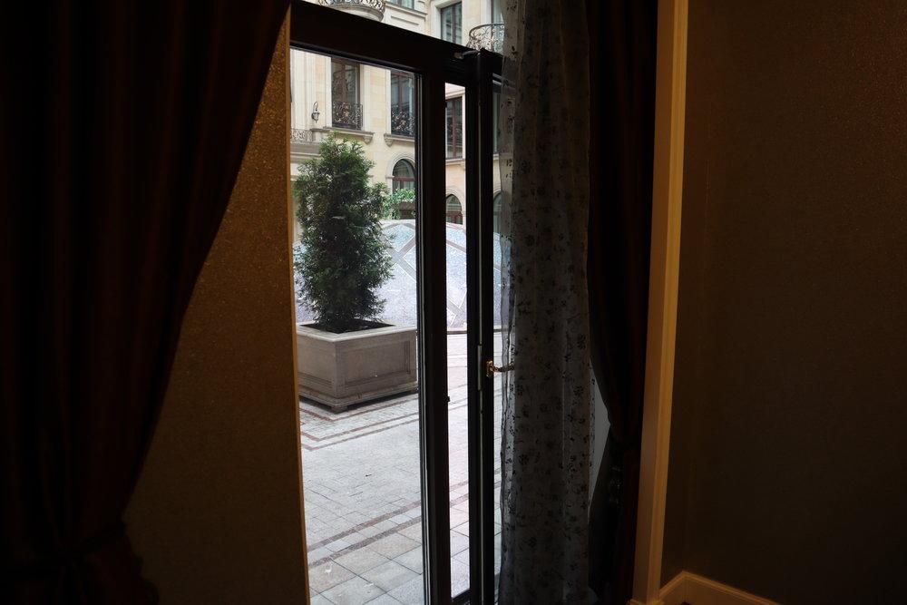 St. Regis Moscow Nikolskaya – St. Regis Suite door to courtyard