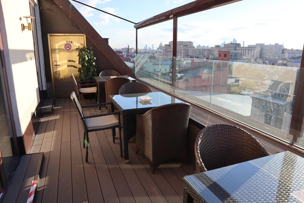 St. Regis Moscow Nikolskaya – Rooftop balcony