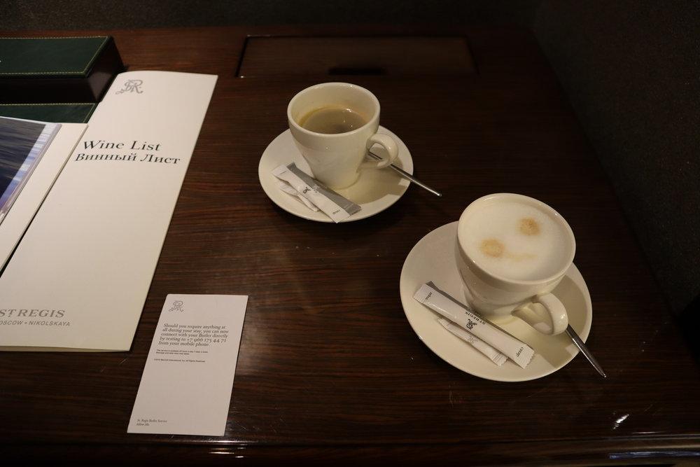 St. Regis Moscow Nikolskaya – Coffee service