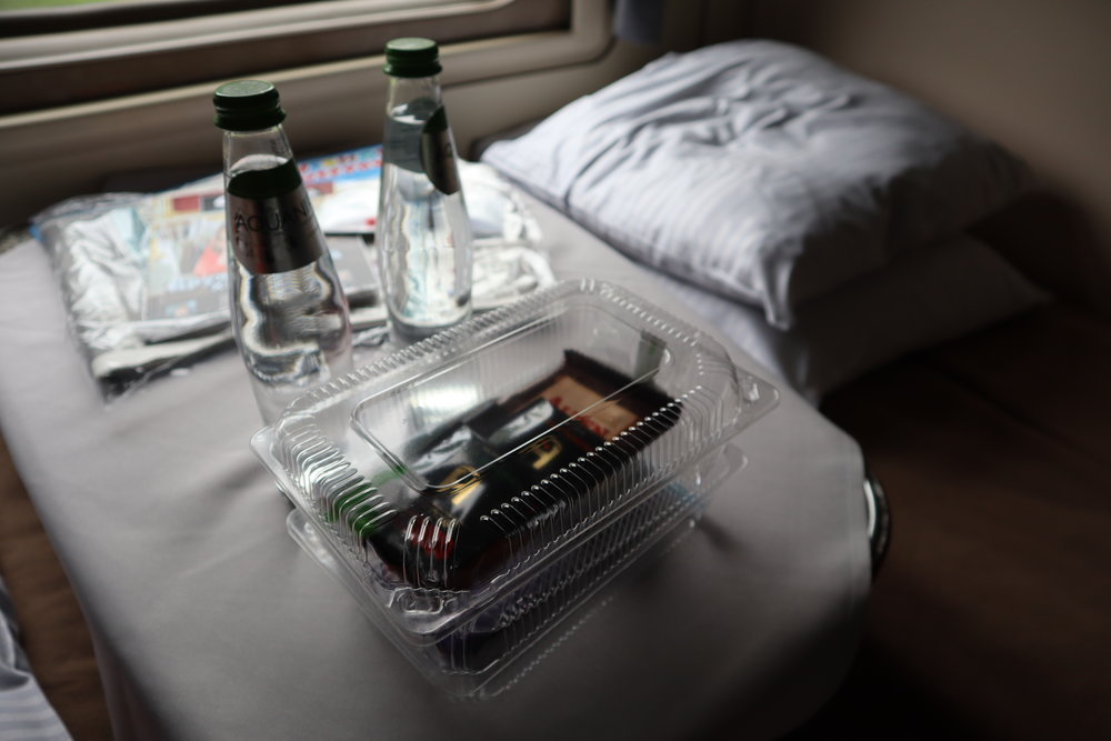 Trans-Siberian Railway First Class – Complimentary snack box
