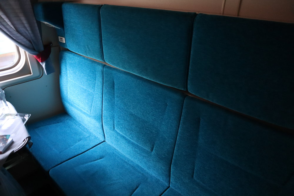 Trans-Siberian Railway First Class – Compartment 8 seating