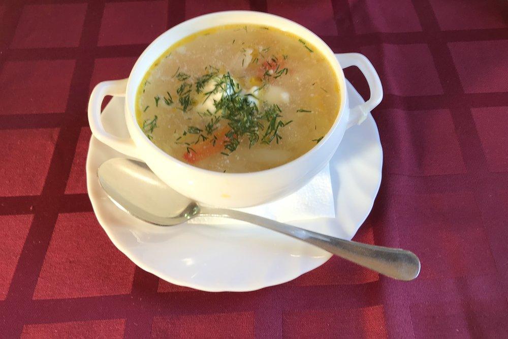 Trans-Siberian Railway First Class – Vegetable soup