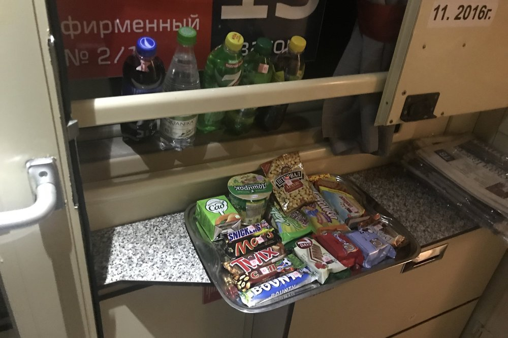 Trans-Siberian Railway First Class – Snack tray