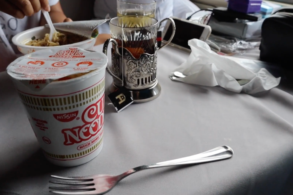 Trans-Siberian Railway First Class – Instant noodles