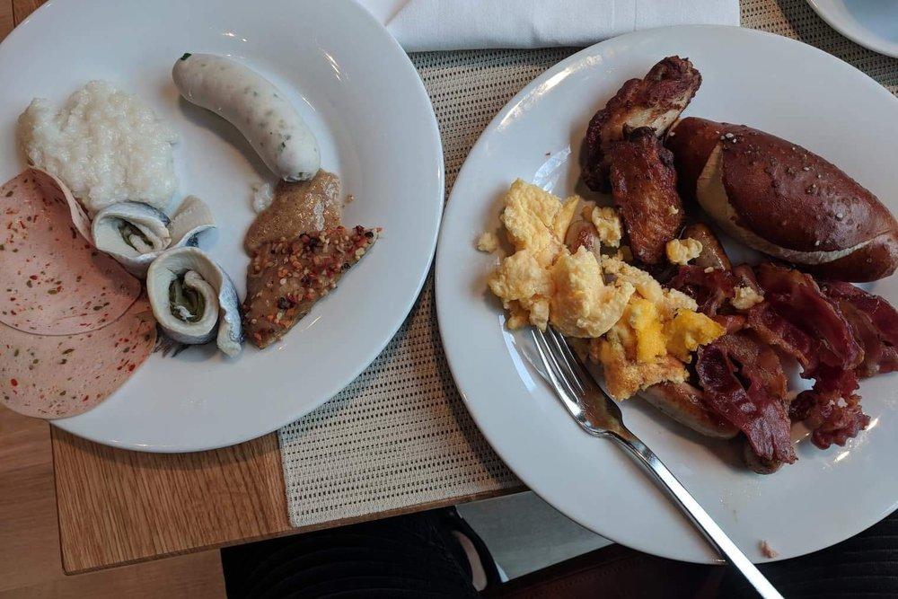Breakfast at the Le Méridien Munich