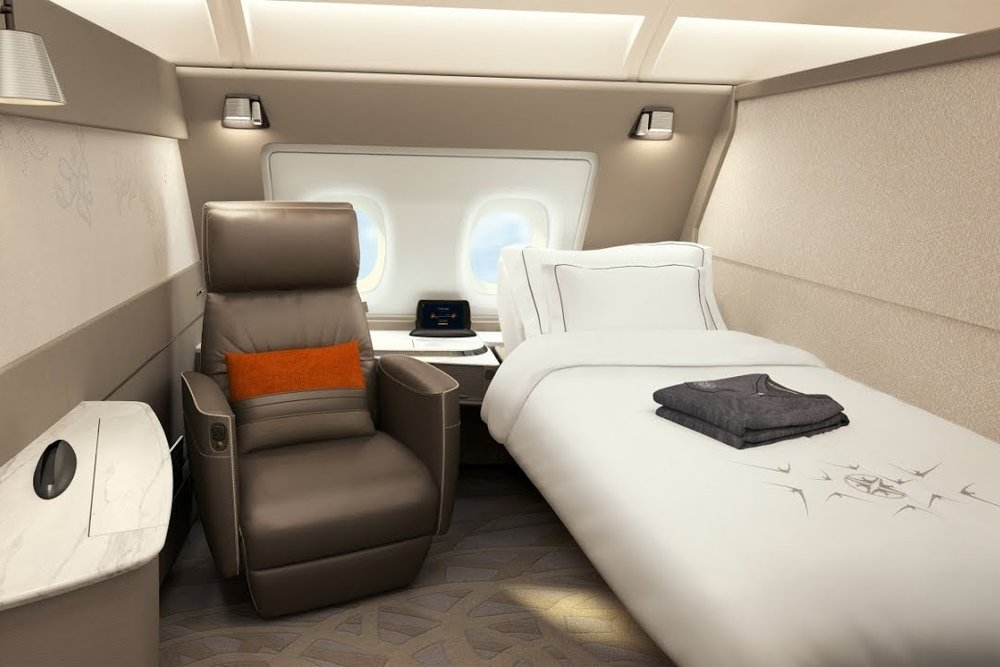 Singapore Airlines A380 New Suites Class