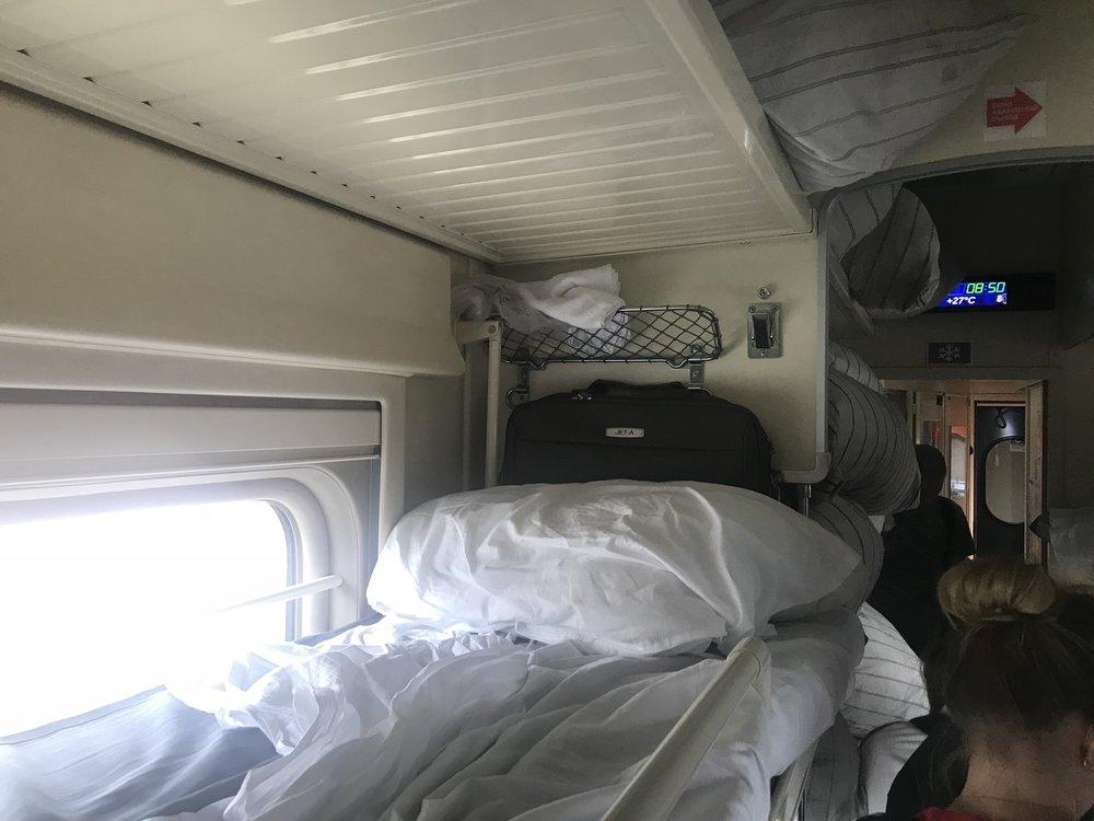 Trans-Siberian Railway Third Class – Upper side bunk