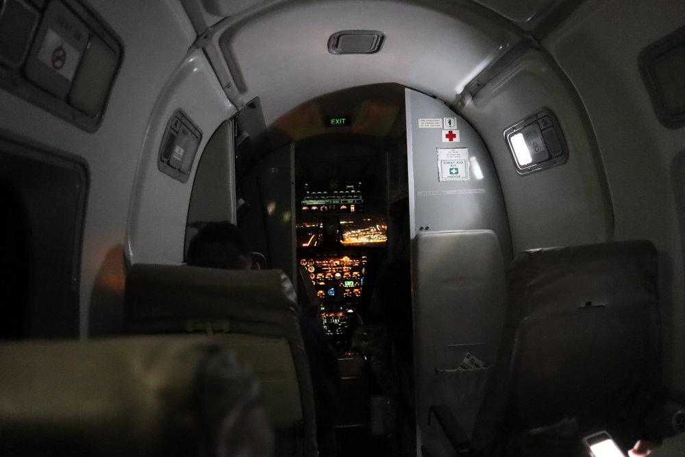 Beechcraft 1900 open cockpit