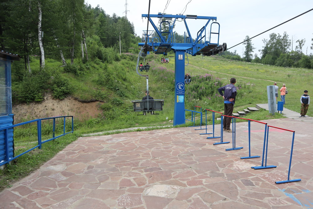 Chairlift up the hill