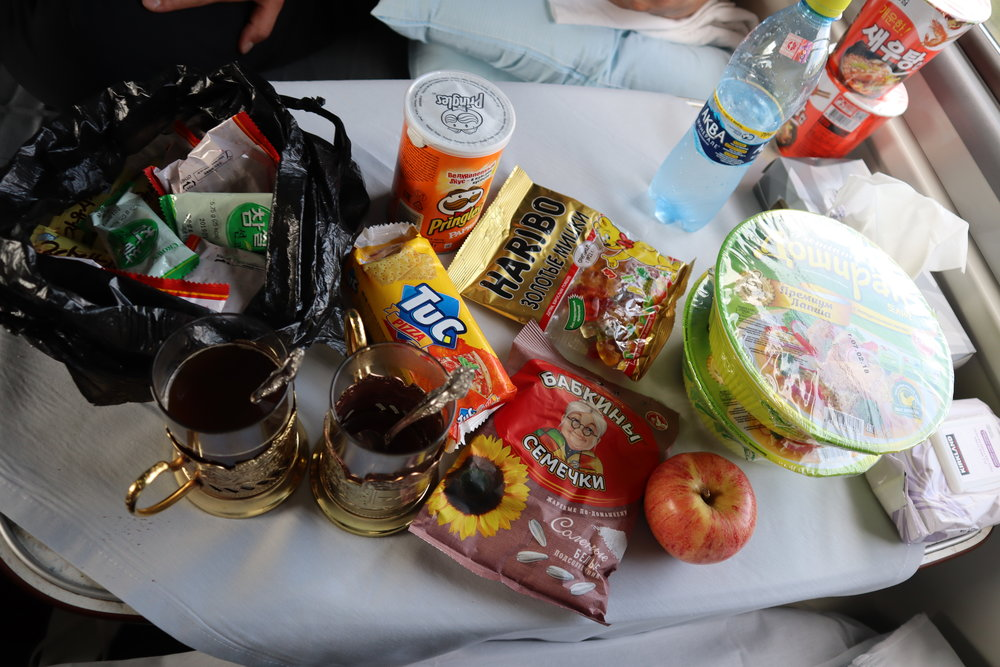 Trans-Mongolian Railway (RZD) Second Class – Nibbles and nosh