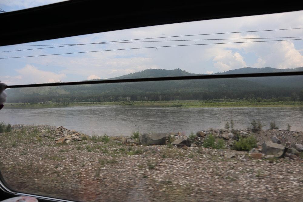 Trans-Mongolian Railway (RZD) Second Class – Scenery near Irkutsk